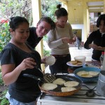 Guatemala Cooking Class - Making Tostadas at Atitlan Spanish School Jardin de America